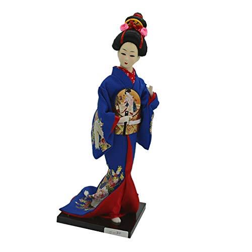 Geisha Mini (D DOLITY 12 Zoll Mini Japanische Geisha Puppe Kunst Sammlerstücke, Kreatives Geschenk für Kinder und Freunde - # 2)