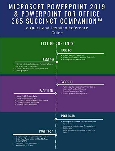 Microsoft PowerPoint 2019 & PowerPoint for Office 365 Succinct CompanionTM: A Quick and Detailed Reference Guide (English Edition)