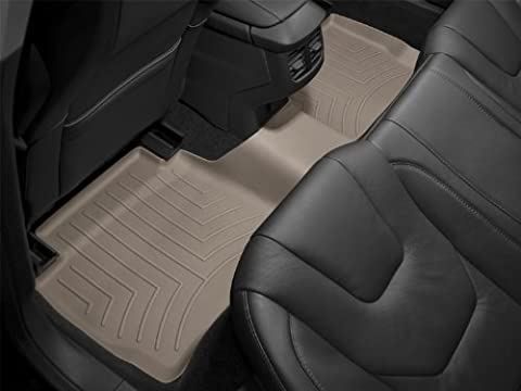 WeatherTech Custom Fit Rear FloorLiner for Ford F150 Super Crew, Tan by (Weathertech Cargo Mat)