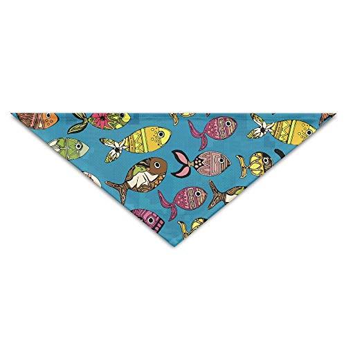 Gorgeous Socks Schöne Doodle Fisch Zeichnung Druck Polyesterfaser 100{ee14d5ef176265357e8130ab1413b3af0014ae90b776cc799feb5987b70bf638} Pet Schals Zubehör einstellbar für alle Größen Hunde Katzen Haustiere