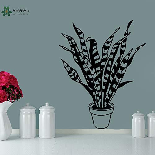 jiuyaomai Vinyl Wandtattoo Topfpflanzen Gras Kinder Studie Schlafzimmer Kunst Moderne Removable Home Decoration Aufkleber42X52 cm -