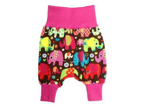 ose Baby Mädchen Hose · Modell Pumphose Elefantenparty Pink · Ökotex 100 Zertifiziert · Größen 98/104 ()