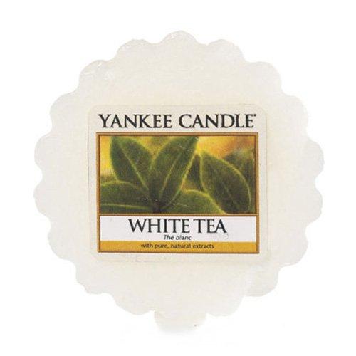 YANKEE CANDLE Bougie parfumée Thé Cire Tartelette, en Plastique, Blanc