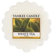 Yankee Candle White Tea Tart da Fondere, Cera, Bianco, 5.7 x 5.7 x 1.7 cm