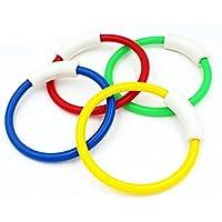 Yeshi Juego de 4 anillos de piscina para niños y niños para entrenar y jugar divertido juguete, 4 Pcs