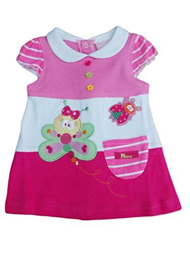 8145cf6fb5da3 BNWT bébé Fille Rose Papillon et Coccinelle Robe de Soleil d été 0–3
