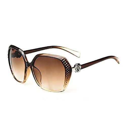 O-C Damen Sonnenbrille Braun Braun