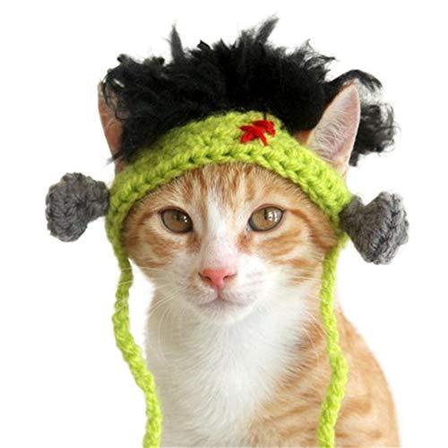 Homeit Haustier Hund Katze Hut Kappe lustiges Kostüm mit Langen Trägern Hut für Halloween Kostüm Cosplay (Hut Träger)