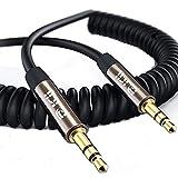 Câble Spirale Auxiliaire 0.5 M, Câble Spiral Audio Auxiliaire Premium 3.5mm - Pour...