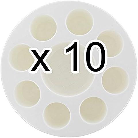 Set di 10Palettes a Pittura–8zone di mescolamento profonde 35mm