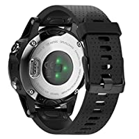 H.J.G Supplies Watch Band Compatible with Garmin Fenix 5S 5S Plus Easy Fit 20 mm [NOT Fenix 5/5X or 3 ] 20MM Black