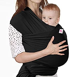 Lictin Baby Wrap-Baby Carrier Adjustable Breastfeeding Cover Cotton Sling Baby Carrier for Infants up to 35 lbs/16kg, Soft and Comfortable to Use CE Certification with Storage Bag (Black)   13