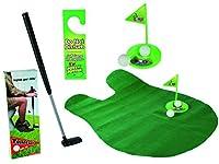 Relaxdays Set de juego de golf para el baño Juego de golf 6 piezas Felpudo de Relaxdays