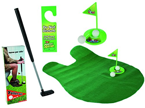 Out of the blue 59/2049 Toiletten Golf Set, 6-teilig, Golfschläger, circa 62 cm (Golf-artwork)