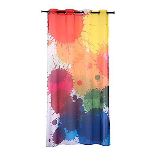 Cortinas transparentes del dormitorio,cortinas de tul rociadas en color,material Terex de primera calidad,para estudio de baile/sala de música/sala de baile callejero,1 panel,140×240cm(55×95inch)