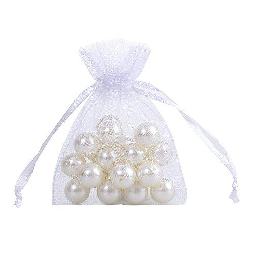 Awtlife 50pz rustico vintage chiave apribottiglie con carta tag e velato borsa per bomboniere matrimonio - 5