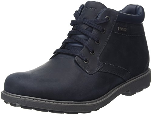 RockportRugged Bucks Waterproof Boot - Stivaletti uomo, Blu (New Dress Blue), 43