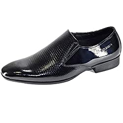 Valentino Genuine Leather VDEL02BLK Mens Fomal Shoes