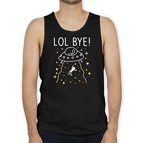 Shirtracer Nerds & Geeks - LOL Bye! - weiß - L - Schwarz - BCTM072 - Tanktop Herren und Tank-Top Männer