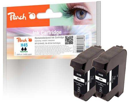 Peach  PI300-130 Twin Pack - Cartucce d'inchiostro, nero, confezione da 2 pezzi