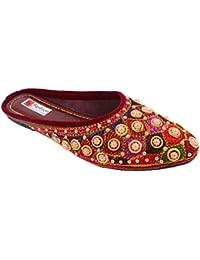 ROYAL CHOICE Rajasthani Jaipuri Ethnic Handmade Embroidered Ladies Girls Mojari/Jutti Slipper