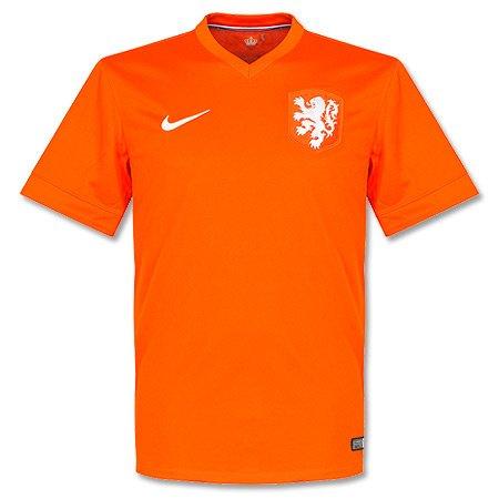 NIKE Holanda 2014 Stadium Camiseta de Fútbol Caballero, Naranja, XL