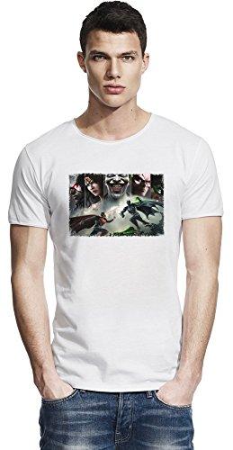 Injustice Gods Among Us Band Raw Edge-T-Shirt Medium