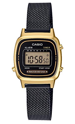 Casio Damen Digital Quarz Uhr mit massives Edelstahl Armband LA670WEMB-1EF - Watch Gold Casio