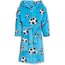Playshoes Fleece-Bademantel Fußball Peignoir, Bleu (900 Original), FR : 9 ans (Taille fabricant : 134) Garçon