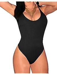 Bañadores Natacion Mujer Grande Talla Dos Pieza Trajes De Baño Bikini Trikini Negro XL