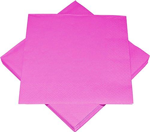 120 x Servietten Serviette Uni Pink 33 x 33 cm Party Geburtstag