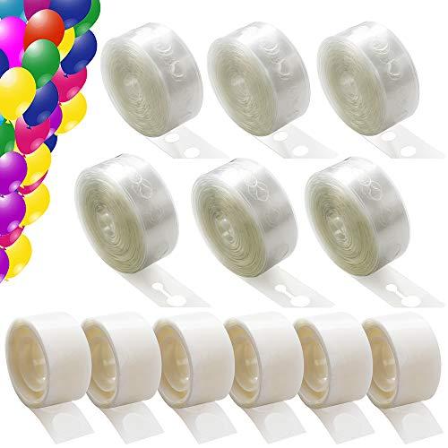 Kit 12 Rolle Ballongirlande Kit 30M (96 Fuß) Ballonklebepunkte Ballon Bogen Girlande Ballon Klebepunkte 600Pcs für Party Hochzeit Weihnachten ()