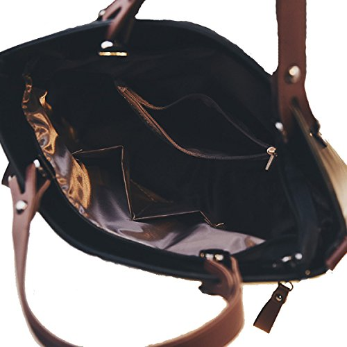 Moda Signorina Han Ban Sacchetto Di Cuoio Multicolore Black