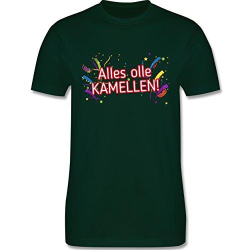 Karneval & Fasching - Alles olle Kamellen! - Herren Premium T-Shirt Dunkelgrün
