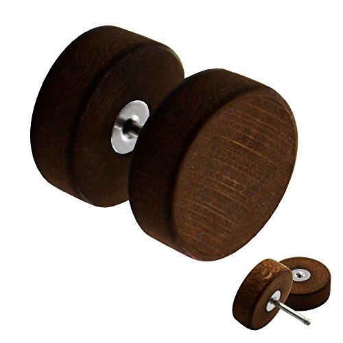 Piercing Fake Plug - Holz - Braun [04.] - 1.0 x 12 mm
