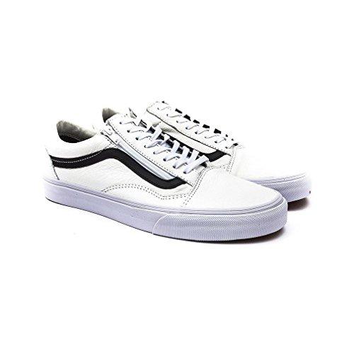 Vans Old Skool Zip Sneakers (premium leather) true wh / blanc Taille Bianco-Nero
