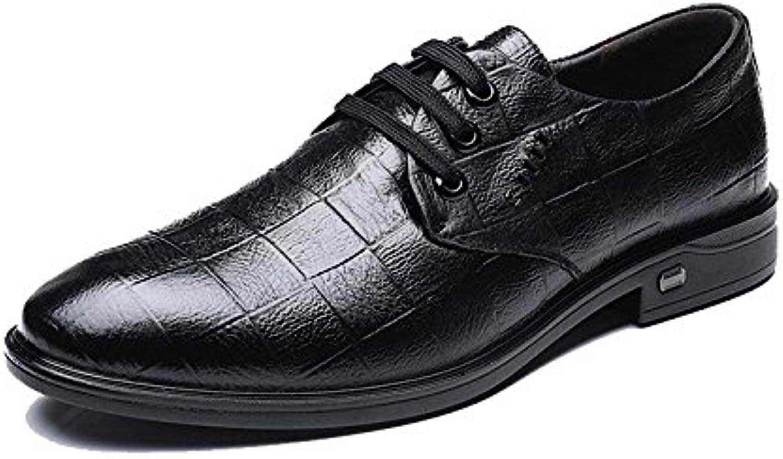 NBWE Männer Spitzen Business Kleid Schuhe Plaid Herrenschuhe Schuhe Spitze