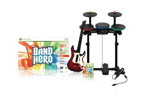 Band Hero + guitare + batterie + micro