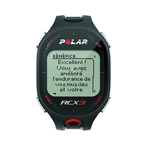 Polar RCX3 - Reloj con pulsómetro compatible con GPS, sensor de zancada y de velocidad para running y multisport (negro)