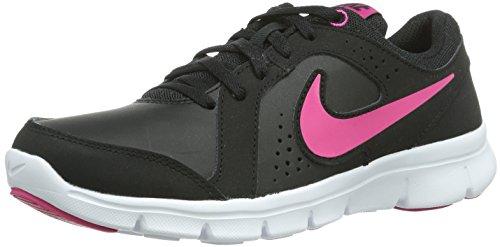 Nike Flex Experience Ltr (Gs), Scarpe da Corsa Bambina Nero (Schwarz (Black/Vivid Pink-White))
