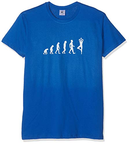 Texlab Yoga Evolution - Herren T-Shirt, Größe L, Marine