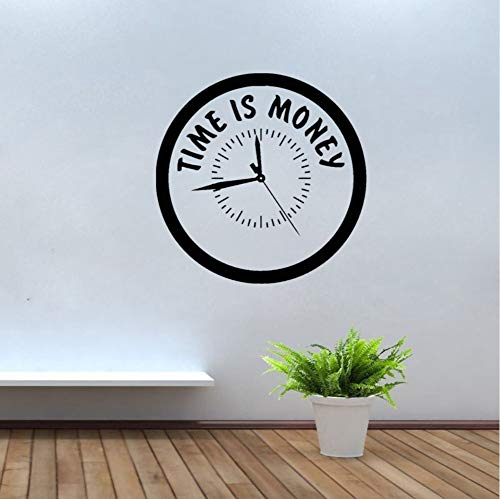 d Vinyl Wandtattoo Büro Zitat Uhr Business Decor Aufkleber Klassenzimmer Dekoration 42 * 42Cm ()