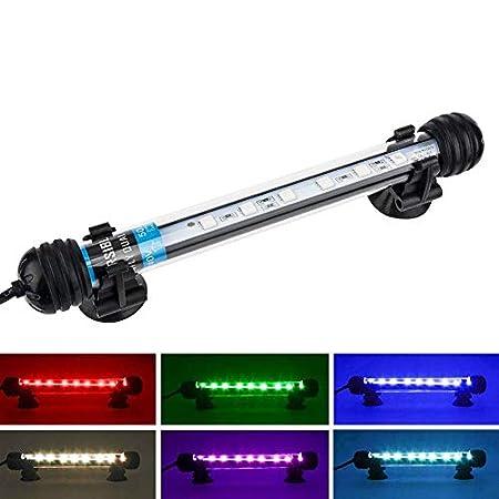 NICREW LED Aquarium Beleuchtung, Aquarium Tauchlampen Unterwasser Kristallglas Leuchten, LED Aquarium Licht Lampe…