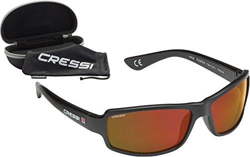 Cressi Ninja Floating - Gafas de sol, color negro / lentes espejados roio, talla única