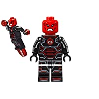 Lego Marvel Superheroes Iron Skull minifigure - super heroes iron man red skull