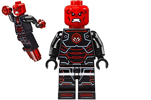 LEGO MINIFIGURE - IRON SKULL - FROM SET 76048 - SH215 (Skull Iron Red)