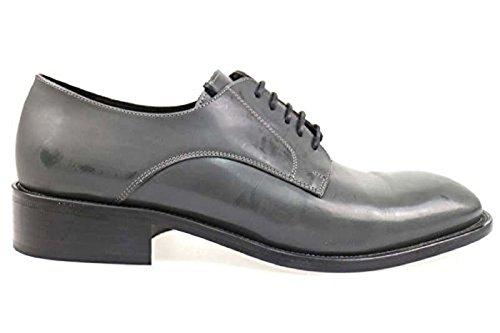 Scarpe uomo CARLO PIGNATELLI 46 classiche grigio pelle AP217