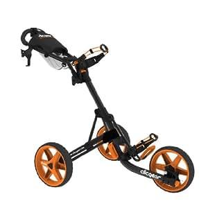 ClicGear Trolley 3.5 Charcoal/Orange Modell 2015 inkl. Regenschirm und Getränkehalter