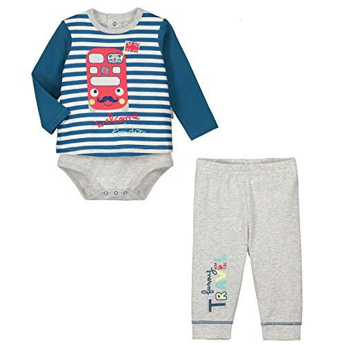a3c01af714503 Petit Béguin - Ensemble bébé garçon body T-shirt + pantalon Funny London -  Couleurs
