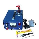 BANNAB 2 In 1 Schmuck-Schweißmaschine Spot Welder Pulse Sparkle Spot Welder, Puls-Electric Gold Silber Silber Platinum High-Grade Stahl Mit Handle-Tool,50A